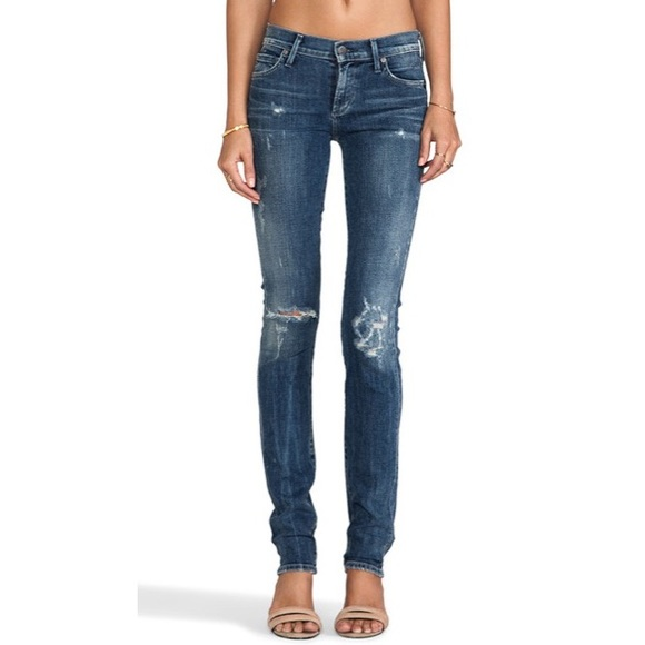Citizens Of Humanity Denim - Citizens of Humanity Ava Distressed Straight Jeans